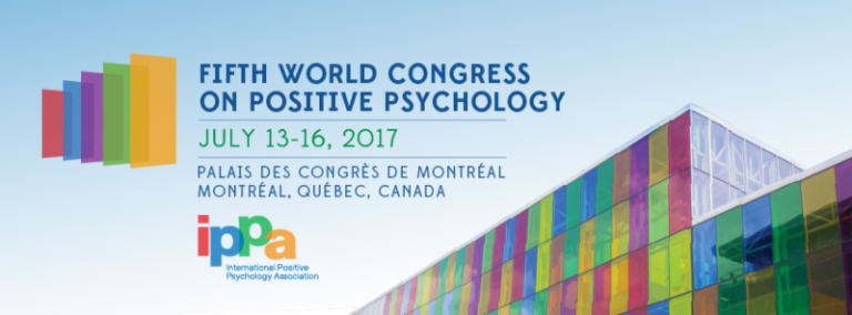the fifth world congress on positive psychology which took place in 2017 in Paris
